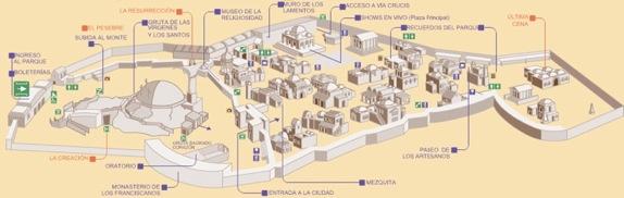 Mapa de Tierra Santa