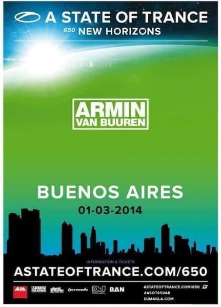 A state of Trance 650 en Argentina 2014: Precios y entradas en venta
