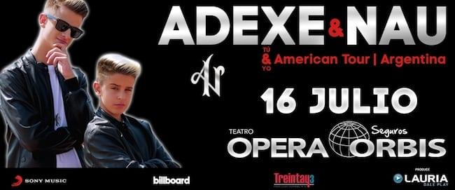 Adexe y Nau en Argentina 2018: Precios y entradas en venta