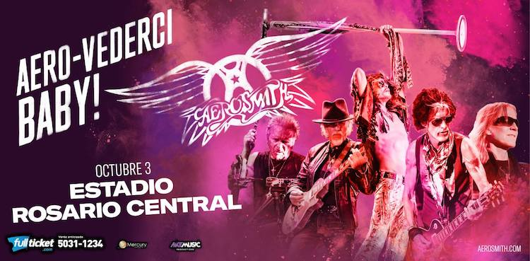 Aerosmith en Rosario 2017: Precios y entradas en venta