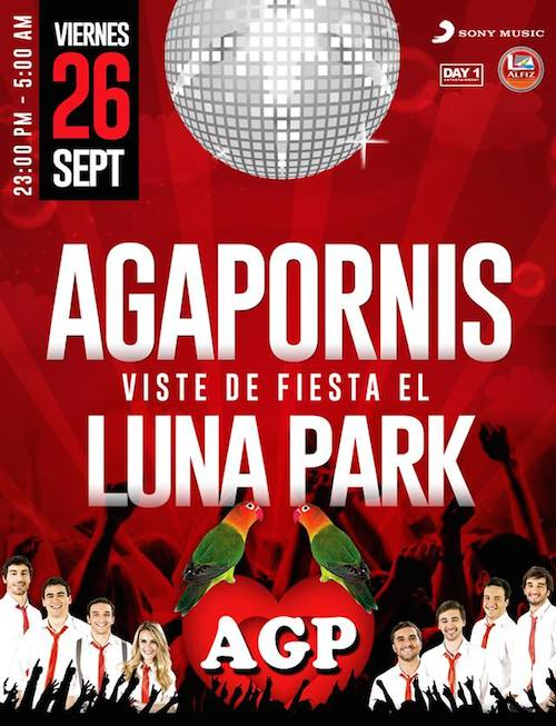 Agapornis en el Luna Park 2014: Precios y entradas en venta
