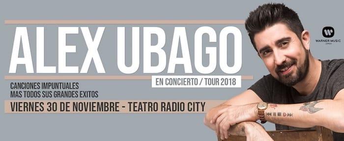 Alex Ubago en Mar del Plata 2018: Precios y entradas en venta