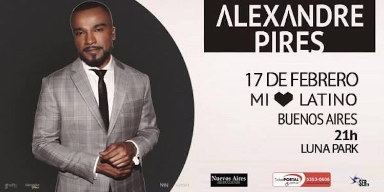 Alexandre Pires en Argentina 2018: Precios y entradas en venta