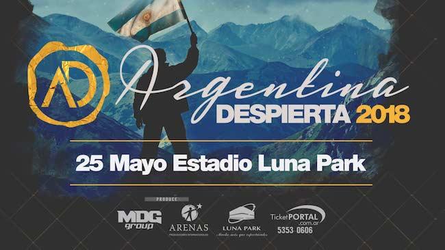 Argentina Despierta en el Luna Park 2018: Precios y entradas