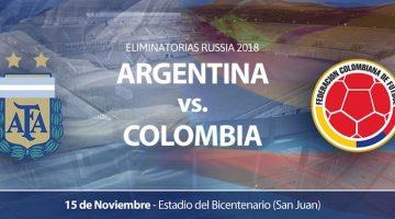 Argentina vs Colombia en San Juan 2016