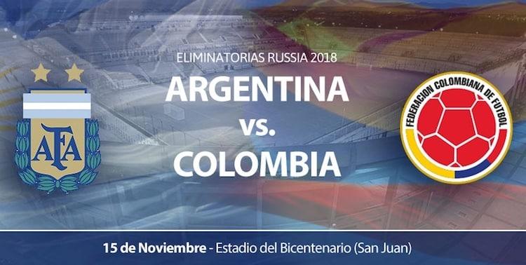 Argentina vs Colombia en San Juan 2016: Precios y entradas en venta