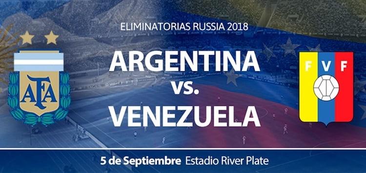 Argentina vs Venezuela 2017: Precios y entradas en venta