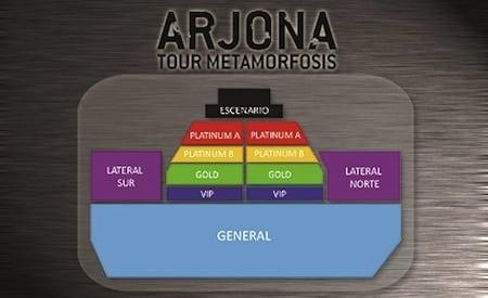 Ricardo Arjona en San Juan 2013: Mapa de entradas