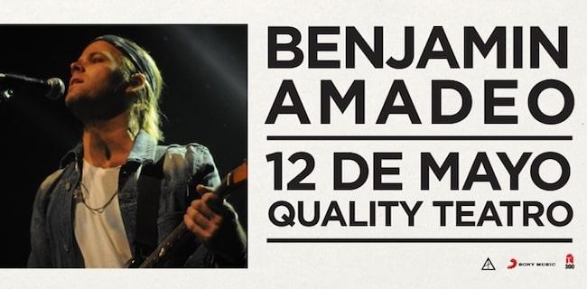 Benjamin Amadeo en Córdoba 2018: Precios y entradas en venta
