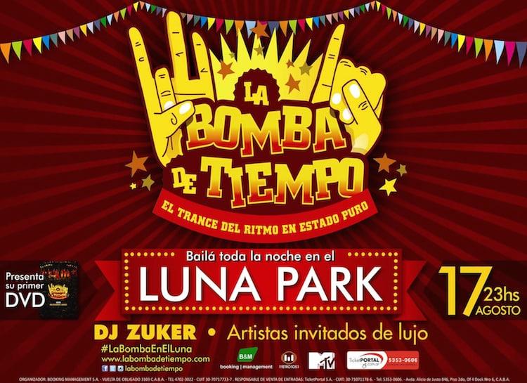 La Bomba de Tiempo en el Luna Park 2014: Precios y entradas en venta