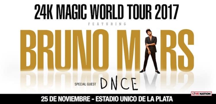 Bruno Mars en Argentina 2017: Precios y entradas en venta