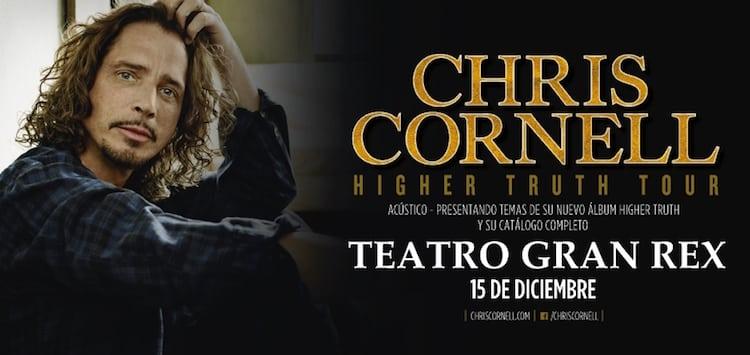 Chris Cornell en Argentina 2016 (Gran Rex): Precios y entradas en venta