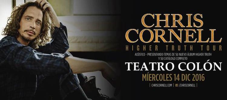 Chris Cornell en el Teatro Colón 2016: Precios y entradas en venta
