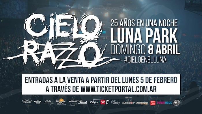 Cielo Razzo en el Luna Park 2018: Precios y entradas en venta