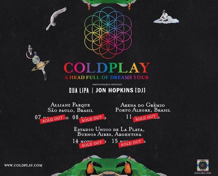 Coldplay en Argentina 2017: Precios y entradas en venta