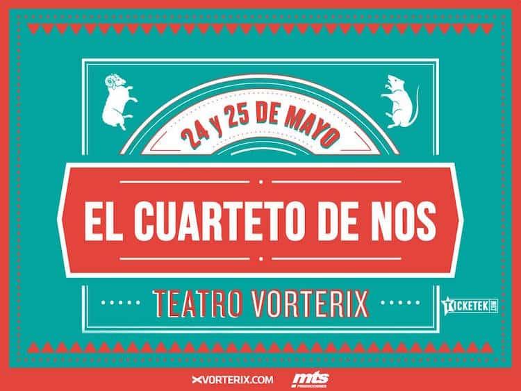 El Cuarteto de Nos en el Teatro Vorterix 2016: Precios y entradas en venta