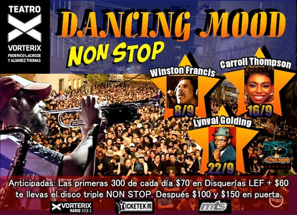 Entradas para Dancing Mood en el Teatro Vorterix 2012