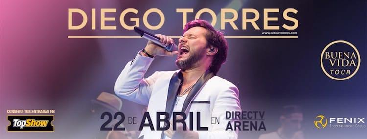 Diego Torres en el Directv Arena 2017: Precios y entradas en venta