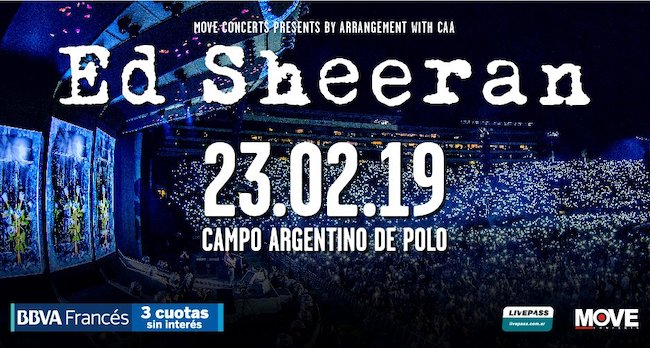 Ed Sheeran en Argentina 2019: Precios y entradas en venta