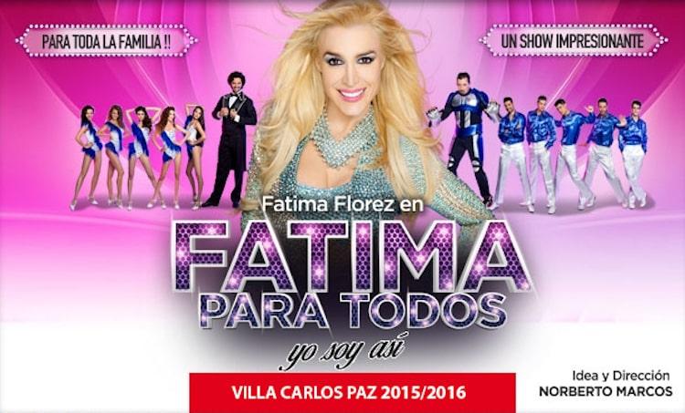 Fatima para todos en Carlos Paz 2016: Precios y entradas en venta