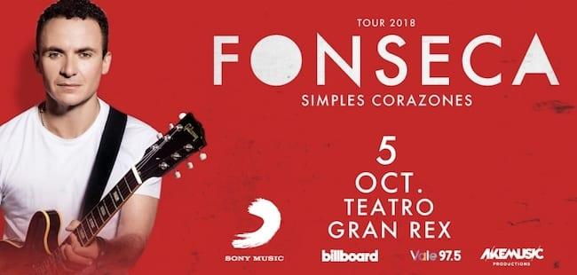 Fonseca en Argentina 2018: Precios y entradas en venta