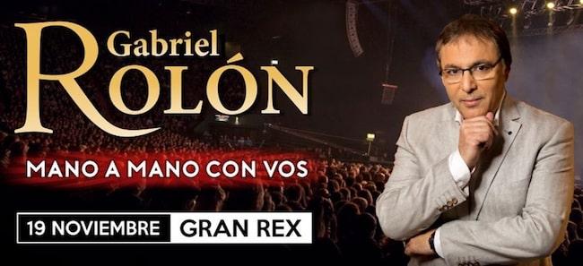 Gabriel Rolón en el Gran Rex 2018: Precios y entradas en venta