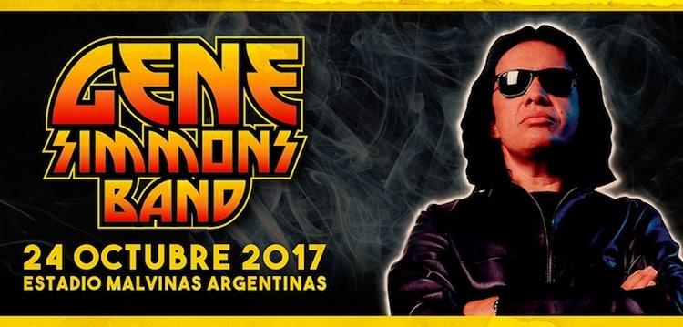 Gene Simmons en Argentina 2017: Precios y entradas en venta