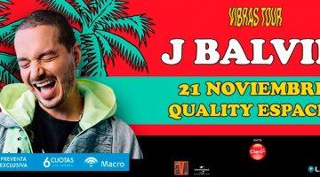 J Balvin en Córdoba 2018: Espacio Quality