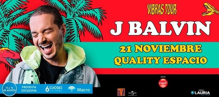 J Balvin en Córdoba 2018: Precios y entradas en venta