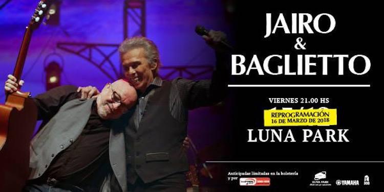 Jairo y Baglietto en el Luna Park 2018: Precios y entradas en venta