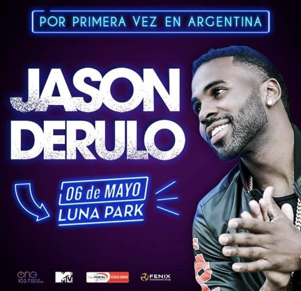 Jason Derulo en Argentina 2018: Precios y entradas en venta