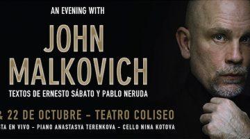 John Malkovich en Argentina 2016: Teatro Coliseo