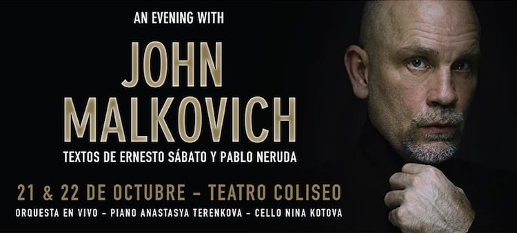 John Malkovich en Argentina 2016: Precios y entradas en venta