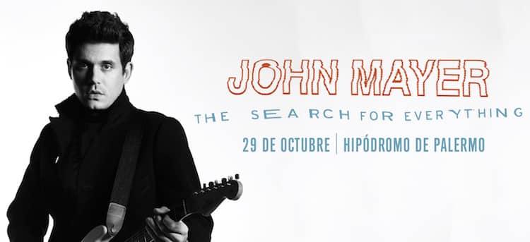John Mayer en Argentina 2017: Precios y entradas en venta