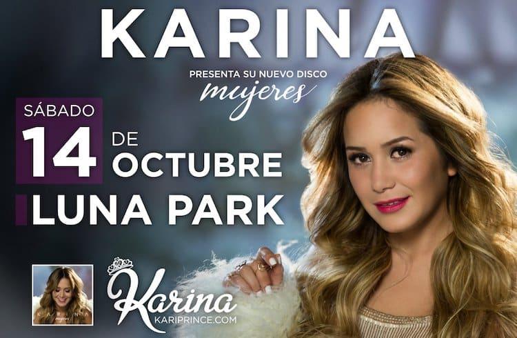 Karina en el Luna Park 2017: Precios y entradas en venta