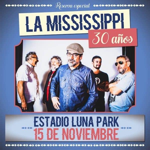 La Mississippi en el Luna Park 2018: Precios y entradas en venta