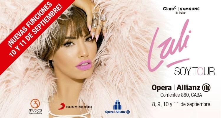 Lali Esposito en el Teatro Opera 2016: Precios y entradas en venta