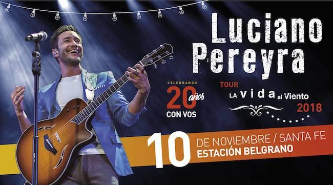 Luciano Pereyra en Santa Fe 2018: Precios, horarios y entradas en venta