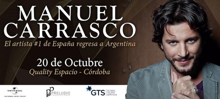 Manuel Carrasco en Córdoba 2017: Precios y entradas en venta