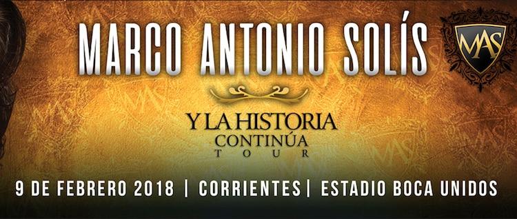 Marco Antonio Solis en Corrientes 2018: Precios y entradas en venta