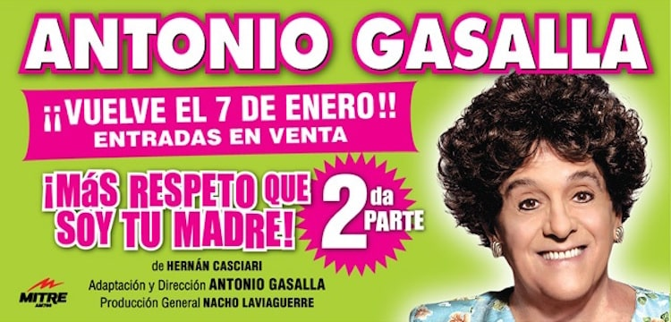Mas respeto que soy tu madre 2 en el Teatro El Nacional 2016: Precios y entradas en venta