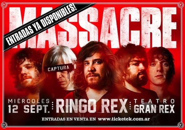 Entradas para Massacre en el Gran Rex 2012