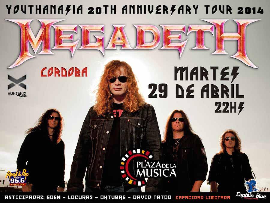 Megadeth en Cordoba 2014: Precios y entradas en venta