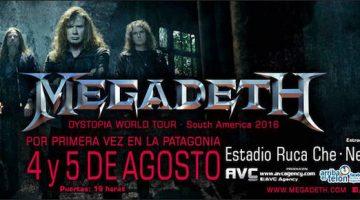 Megadeth en Neuquén 2016
