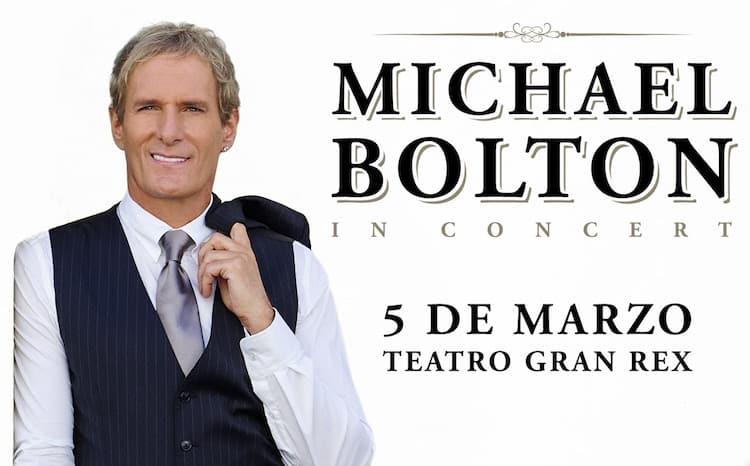 Michael Bolton en Argentina 2018: Precios y entradas en venta