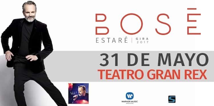 Miguel Bosé en Argentina 2017: Precios y entradas en venta