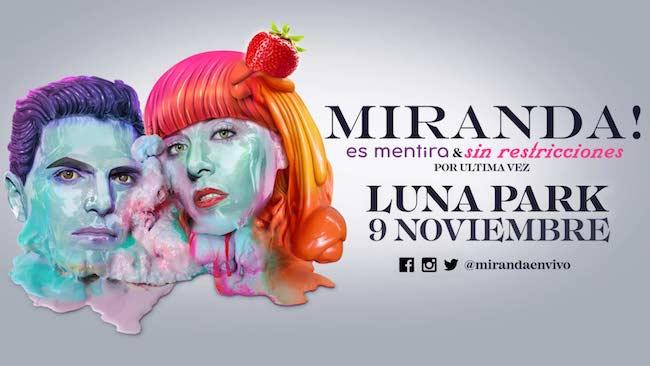 Miranda en el Luna Park 2018: Precios y entradas en venta