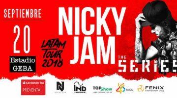 Nicky Jam en Argentina 2018: Precios y entradas en venta