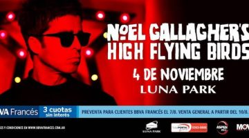 Noel Gallagher en Argentina 2018: Luna Park