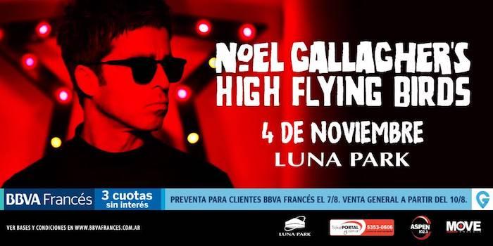 Noel Gallagher en Argentina 2018 (Luna Park): Precios y entradas en venta